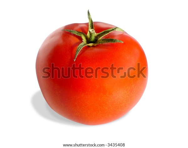 Fresh tomato isolated on white (clipping path included)