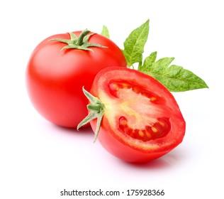 Fresh tomato with leaf