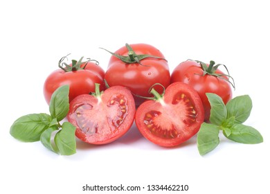 Fresh tomatoes with herbs