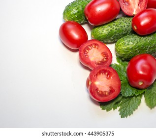 fresh tomatoes isolated on the white background