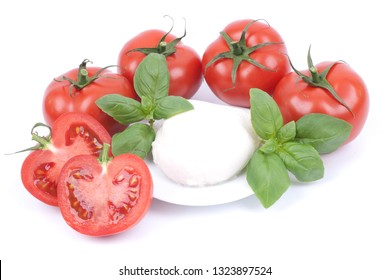 Fresh tomatoes and mozzarella