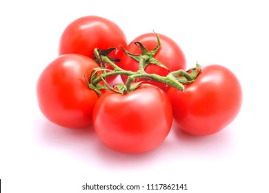 fresh tomatoes studio isolated on white
