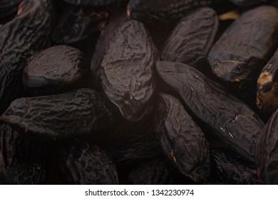 fresh tonka beans background