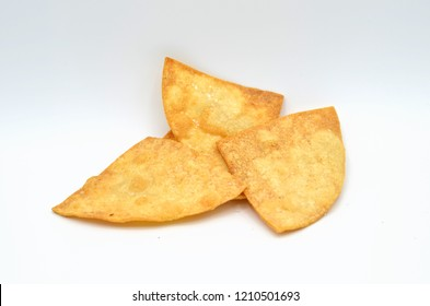 Fresh Tortilla Chip on White Background Isolated