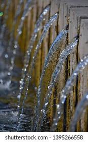 fresh transparent splashing natural water