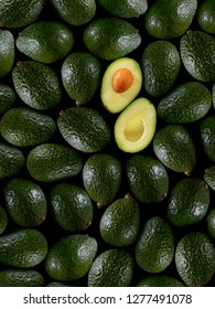 Fresh tropical avocado fruit close up good for background