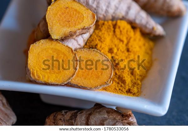fresh turmeric and its dried powder