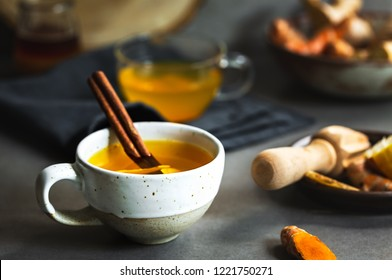 Fresh Turmeric, Ginger, Cinnamon and Lemon  Tea