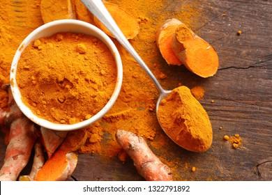 Fresh turmeric and powder