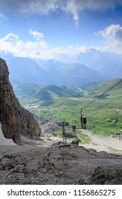 Fresh valley, Dolomites, Italy
