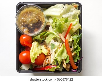 Fresh vegatable salad in a plastic package