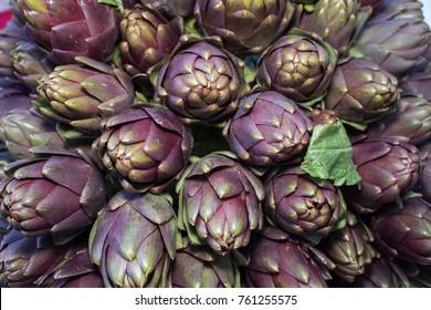 fresh vegetable artichokes