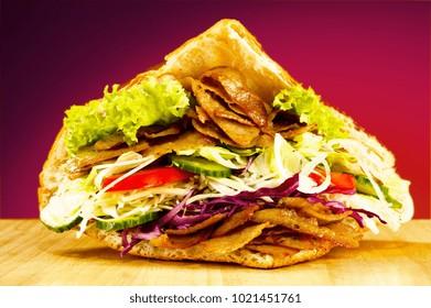 fresh vegetable & chicken meal