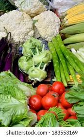 Fresh vegetable in colors