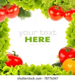Fresh vegetable frame