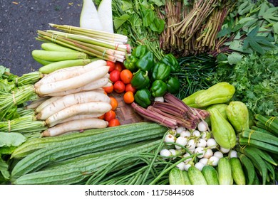 fresh vegetable in the market, Yangon Myanmar