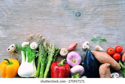 Fresh vegetables . Background. Healthy lifestyle