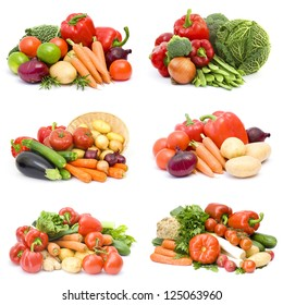 fresh vegetables - collage