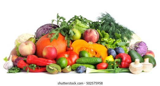 Fresh vegetables and fruit .