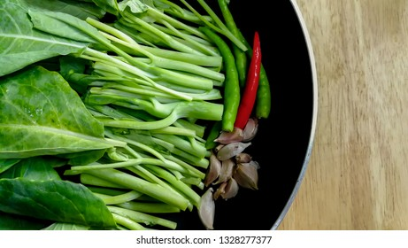 Fresh vegetables in a frying pan. Fresh vegetable products, freshly frozen odietic vegetables