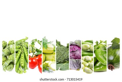 fresh  vegetables  . Healthy food background with text space