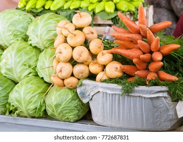 Fresh vegetables at a market