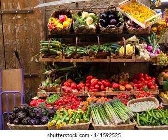 Fresh vegetables market, Florence, Italy
