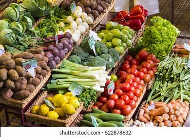 fresh vegetables market madeira funchal, healthy nutrition