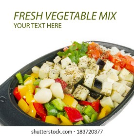 Fresh vegetables mix ready to be cooked
