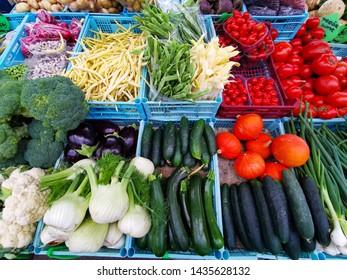 fresh vegetables on croatia market