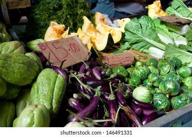 Fresh vegetables on the mauritan local market