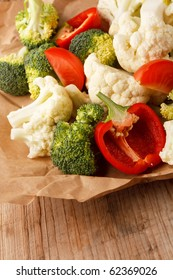 fresh vegetables on the parchment