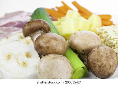 fresh vegetables on a plate for cooking