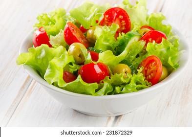 Fresh  vegetables salad. Selective focus