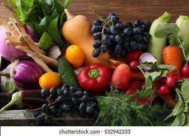 Fresh vegetables set, food ingredients