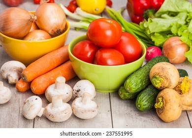 Fresh Vegetables, Shot in a studio.