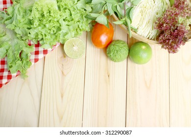 fresh vegetables with space for text