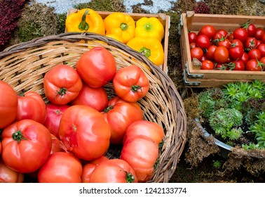Fresh vegetables and village grocery