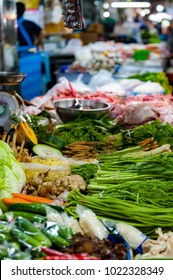 Fresh vegetables at the Warorot Market in Chiang Mai, Thailand.