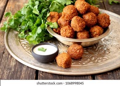 Fresh vegetarian falafel