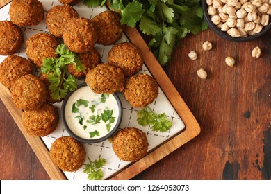 Fresh vegetarian falafel