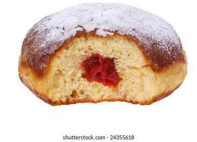 fresh and warm doughnut isolated on white background