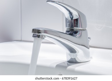 Fresh water comes from a water tap