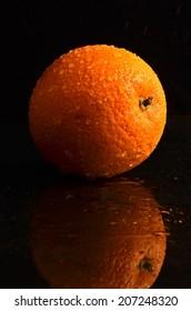 Fresh wet orange