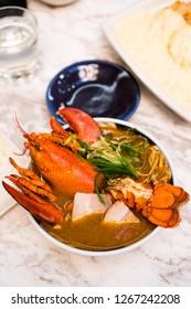fresh whole lobster ramen