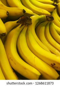 Fresh yellow banana background, sold in the market