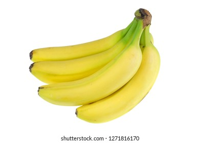 fresh yellow banana isolated on white background