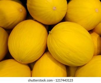 Fresh yellow honeydew melon