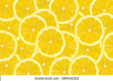 Fresh yellow Lemon slice cuted use for top view background.