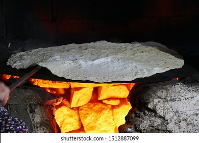 fresh yufka breads made in tandoor Yozgat turkey,